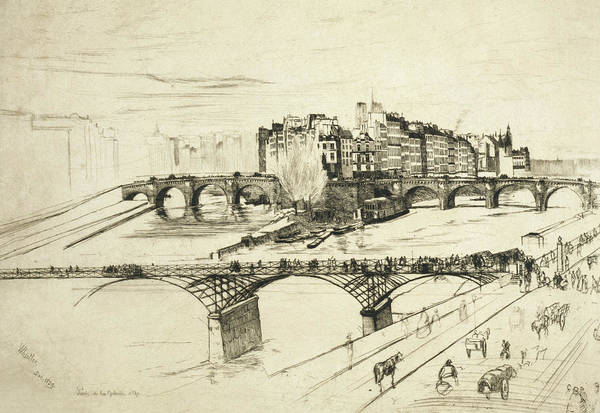 Relief - Ile De La Cite Paris by James Abbott McNeill Whistler