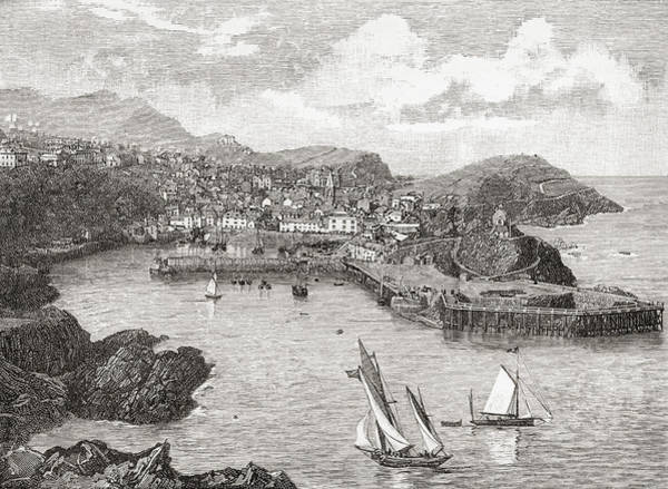 North Devon Drawing - Ilfracombe, England In The Late 19th by Vintage Design Pics