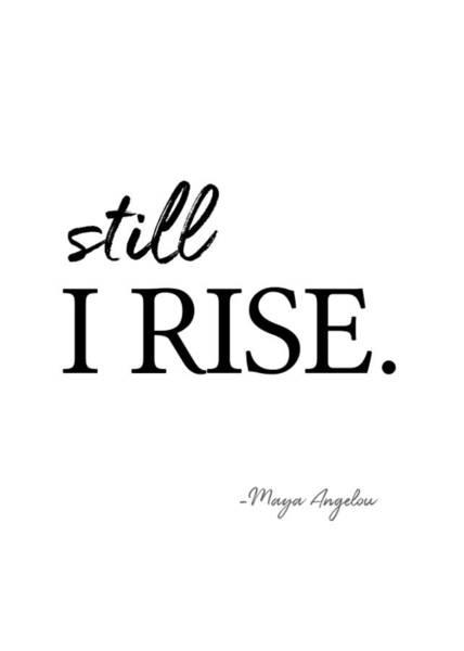 I'll Rise #minimalism 3 Art Print