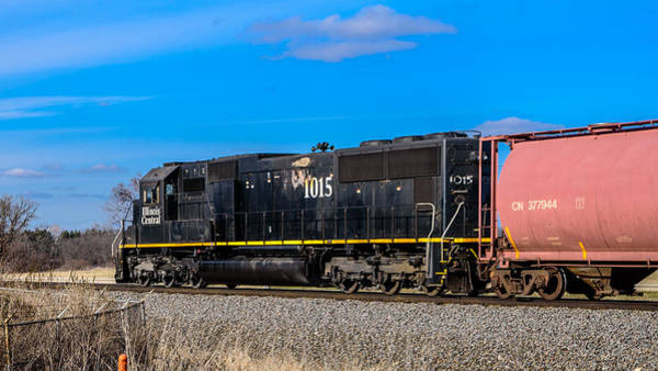 Photograph - Illinois Central 1015 by Randy Scherkenbach