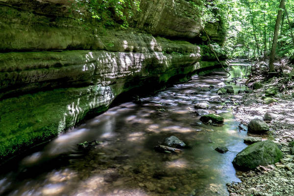 Photograph - Illinois Sandstone Canyon And Stream by Sven Brogren