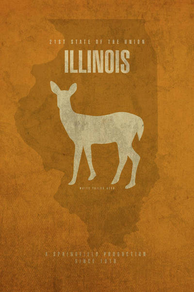Wall Art - Mixed Media - Illinois State Facts Minimalist Movie Poster Art by Design Turnpike
