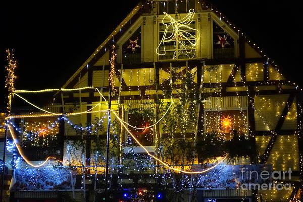 Photograph - Illuminated Christmas-house by Eva-Maria Di Bella