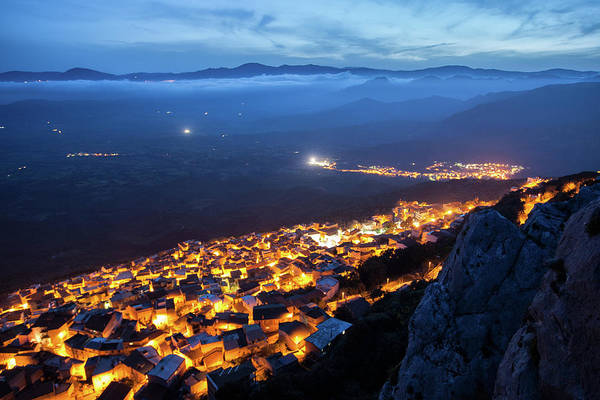 Photograph - Illuminated Country At Night by Daniele Fanni