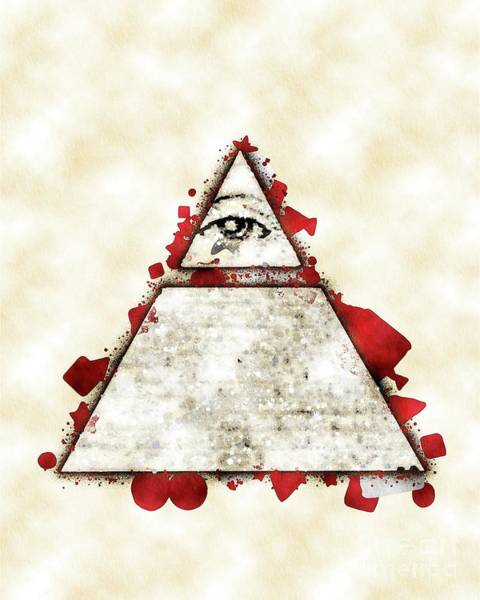 Wall Art - Painting - Illuminati Blood by Pierre Blanchard