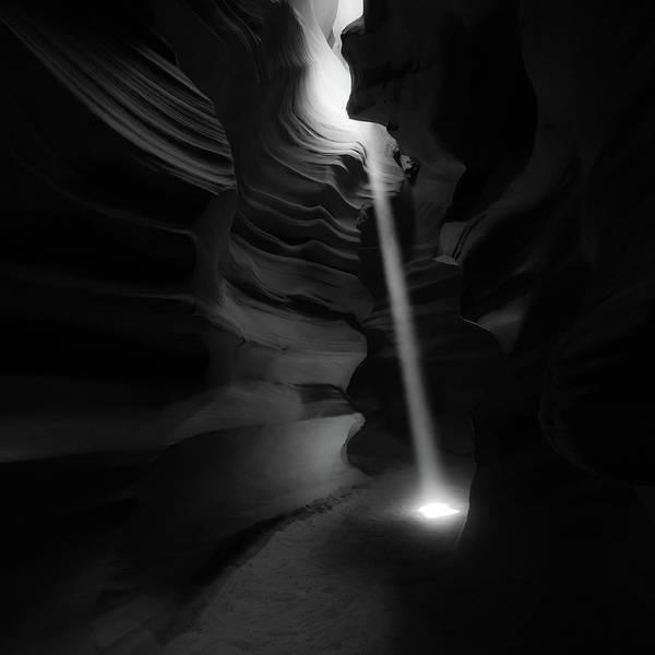 Photograph - Illumination - Antelope Canyon Monochrome by Gregory Ballos