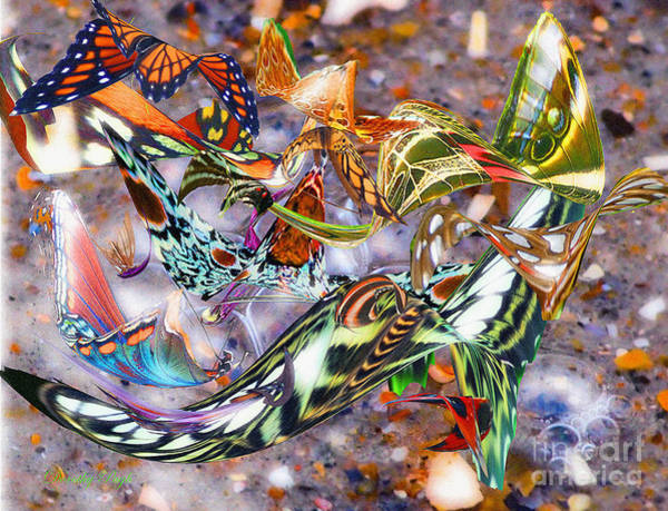 Digital Art - Illusions Of Butterflies by Dorothy  Pugh