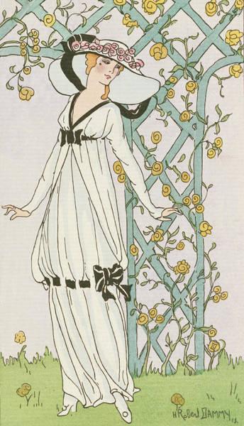 Full Bloom Painting - Illustration From Journal Des Dames Et Des Modes by H Robert Dammy