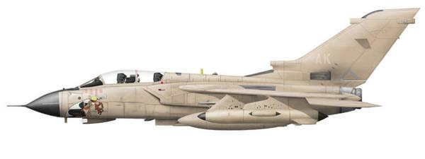 Cockpit Digital Art - Illustration Of A Panavia Tornado Gr1 by Chris Sandham-Bailey