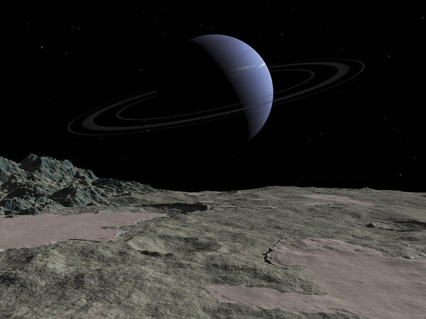 Cosmology Digital Art - Illustration Of The Gas Giant Neptune by Walter Myers