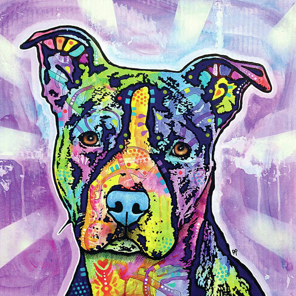 Pitbull Painting - Illustrious by Dean Russo Art