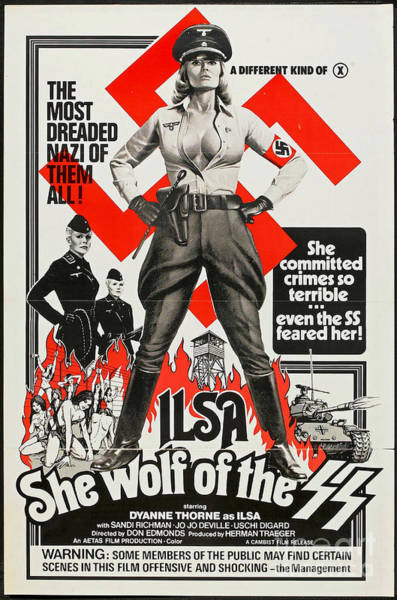 Wall Art - Photograph - Ilsa She Wolf Retro Vintage Poster by Pd