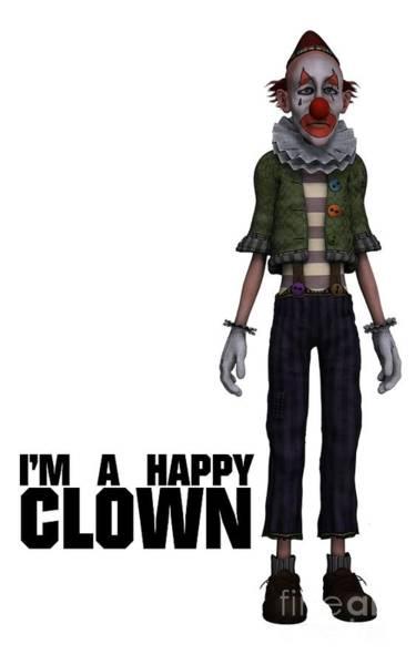 Boobies Digital Art - I'm A Happy Clown by Esoterica Art Agency