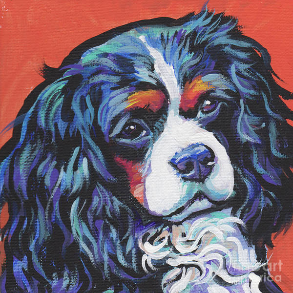 King Charles Spaniel Painting - I'm A King by Lea