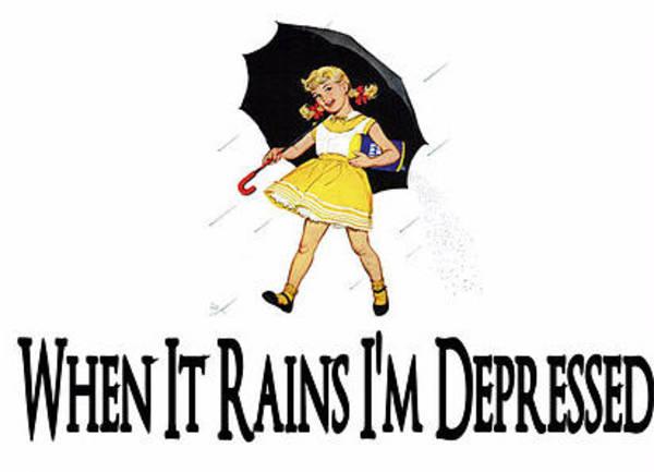 Digital Art - I'm Depressed It's Raining by Reinvintaged