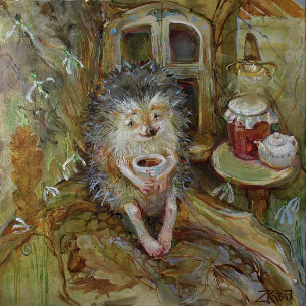 Snowdrop Painting - I'm Getting Warm by Zoe Kaveshnikova