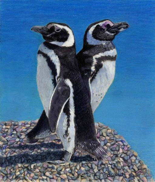 Painting - I'm Not Talking To You - Penguins by Patricia Barmatz