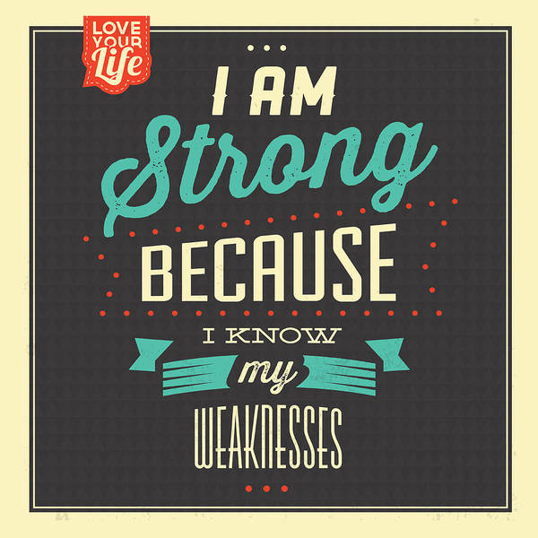 Laughs Wall Art - Digital Art - I'm Strong by Naxart Studio
