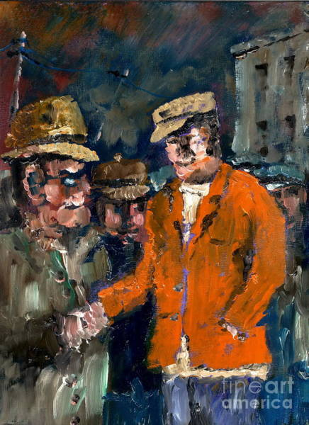 Painting - I'm The Guy With De Money by Val Byrne
