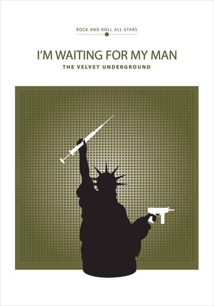 Digital Art - I'm Waiting For My Man -- The Velvet Underground by David Davies