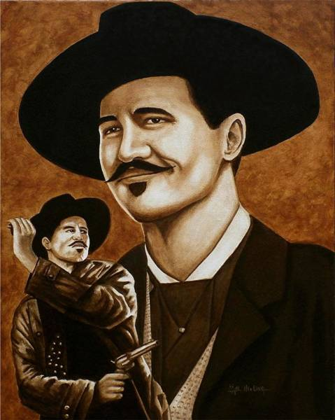 Wall Art - Painting - I'm Your Huckleberry by Al  Molina