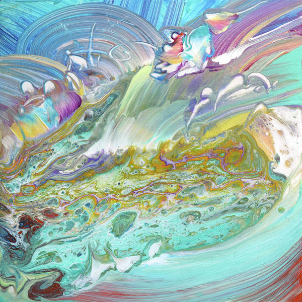 Wall Art - Painting - Imaginal Cell Rainbow Pools by Susan Card