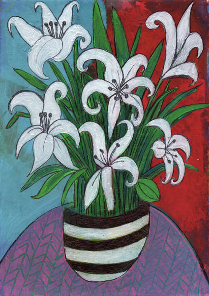 Amaryllis Painting - Imaginary Lillies by Stephen Humphries