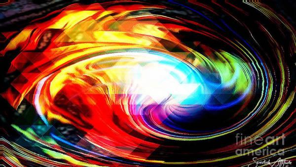Digital Art - Imagination Abstract Swirl by Swedish Attitude Design