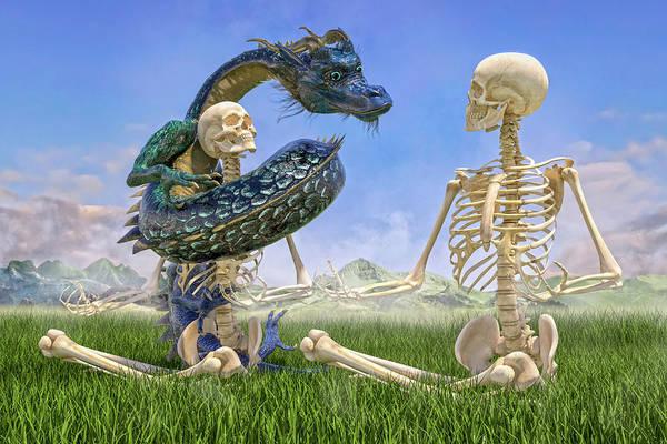 Wall Art - Digital Art - Imaginative Meditation Dragon by Betsy Knapp