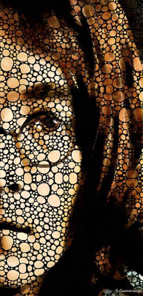 Painting - Imagine - John Lennon Tribute by Sharon Cummings