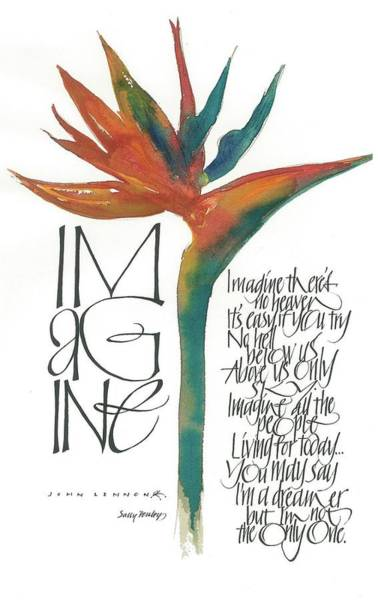 Drawing - Imagine by Sally Penley