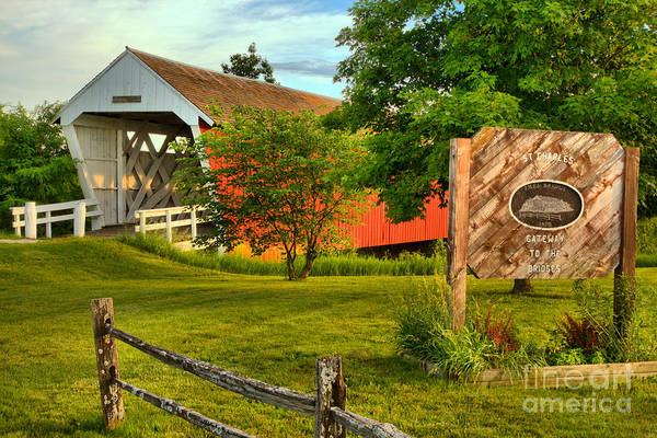Photograph - Imes Covered Bridge Landscape by Adam Jewell