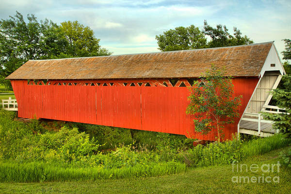 Photograph - Imes Red Covered Bridge by Adam Jewell
