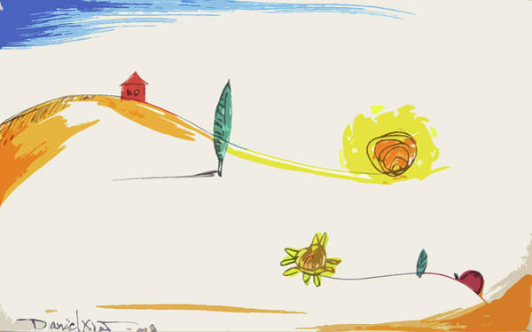 Lady Bug Drawing - Imitation by Daniel Xiao