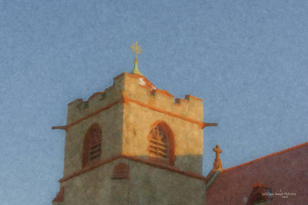 Painting - Immaculate Conception Steeple by Bill McEntee