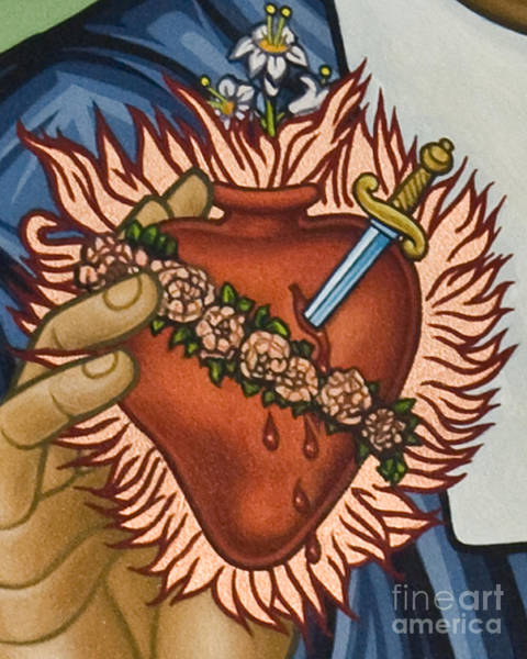 Painting - Immaculate Heart Of Mary - Lwimh by Lewis Williams OFS