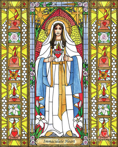 Painting - Immaculate Heart Of Mary by Brenda Nippert