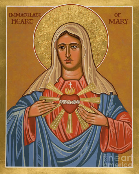 Painting - Immaculate Heart Of Mary - Jcihe by Joan Cole