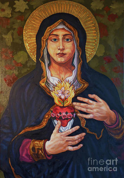 Painting - Immaculate Heart Of Mary - Lwihm by Lewis Williams OFS