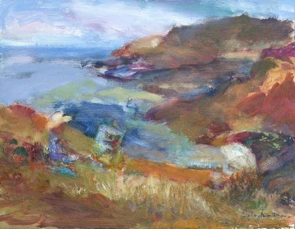 Painting - Immersed In The Landscape Painters At Rocky Creek, Quin Sweetman by Quin Sweetman