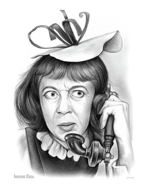 Actress Drawing - Imogene Coca by Greg Joens