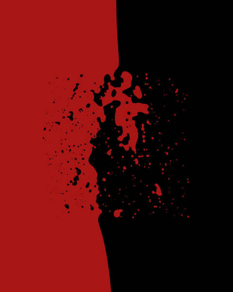Negative Space Digital Art - Impact by Vic Eberly