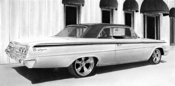 Chevrolet Drawing - Impala by Lyle Brown