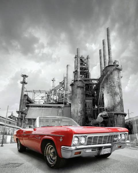 Super Car Mixed Media - Impala Super Sport Front by Lori Deiter