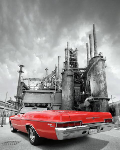 Super Car Mixed Media - Impala Super Sport Rear by Lori Deiter