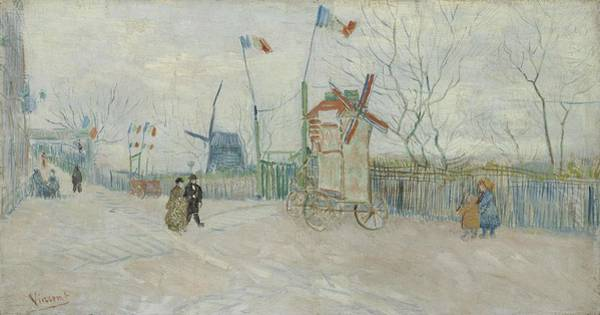 Painting - Impasse Des Deux Freres Paris, February  April 1887 Vincent Van Gogh 1853  1890 by Artistic Panda