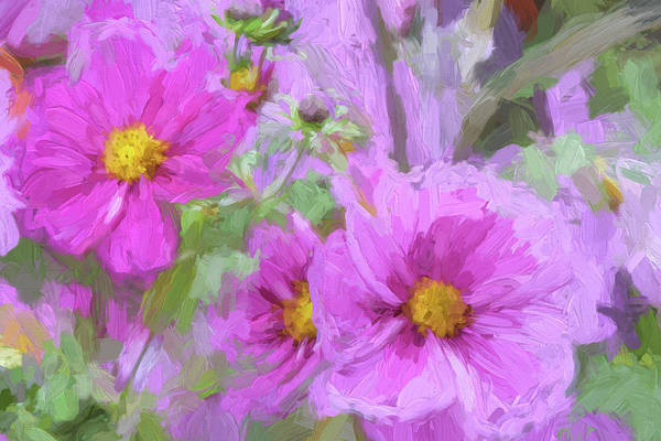 Wall Art - Painting - Impasto Cosmos by Bonnie Bruno