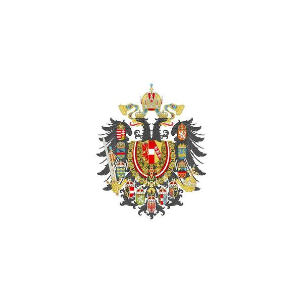 Imperial Coat Of Arms Of The Empire Of Austria-hungary Transparent Art Print