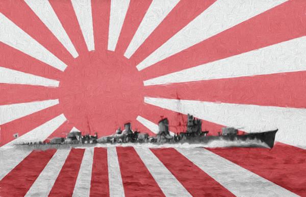 Digital Art - Imperial Japanese Navy Amatsukaze by JC Findley