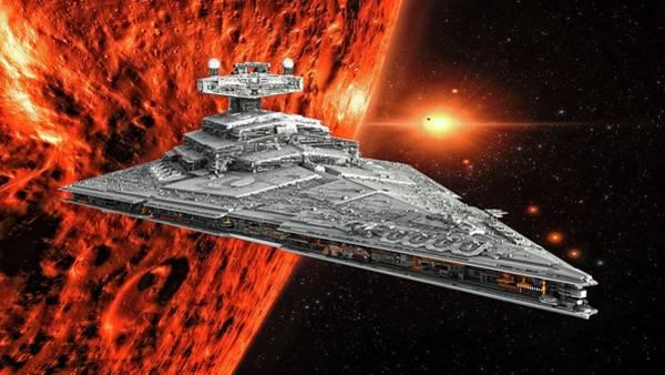 Wall Art - Digital Art - Imperial Star Destroyer by Louis Ferreira